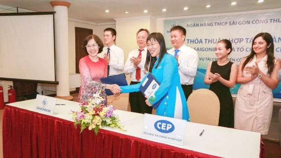 Ký thỏa thuận hợp tác giữa Saigonbank và CEP