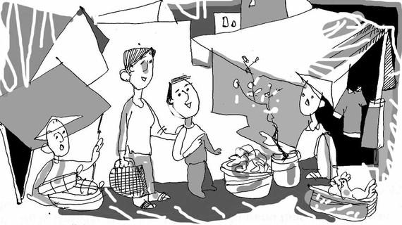 Tuổi thơ với những phiên chợ tết