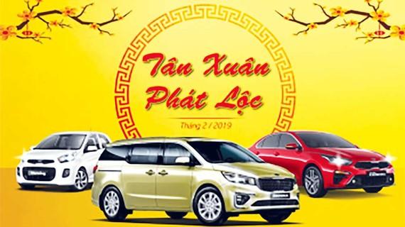 Kia dành tặng khách hàng chương trình Tân Xuân Phát Lộc khi mua xe trong tháng 2-2019