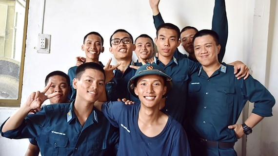 Các tân binh TPHCM tại Tiểu đoàn 11 Quân chủng Phòng không - Không quân