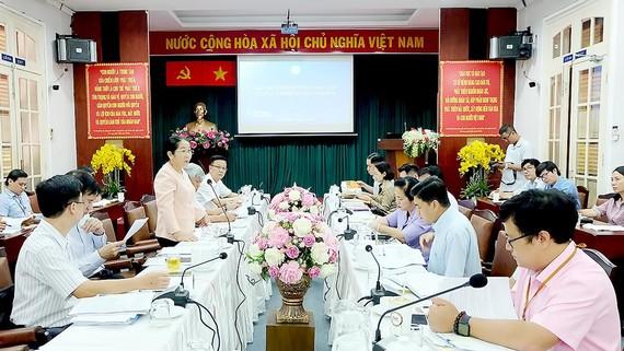 Phó Bí thư Thành ủy TPHCM Võ Thị Dung phát biểu chỉ đạo tại buổi làm việc với UBND quận 1