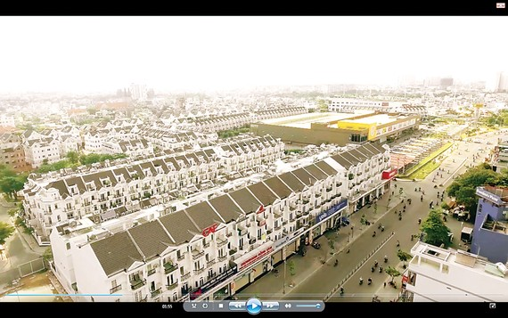 Một góc Gò Vấp - đường Phan Văn Trị, phường 5 nhìn từ dự án CityLand Garden Hills