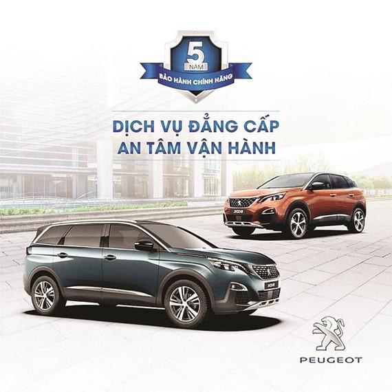 Mua xe Peugeot 5008, 3008 hưởng chế độ bảo hành 5 năm chính hãng