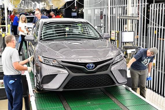 Camry thế hệ mới được sản xuất tại nhà máy Toyota ở Kentucky, Mỹ.