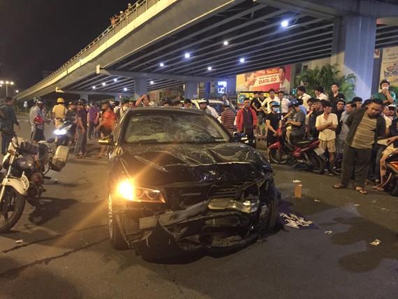 Vụ tai nạn khiến 1 người chết, 6 người bị thương. Ảnh: CHÍ THẠCH