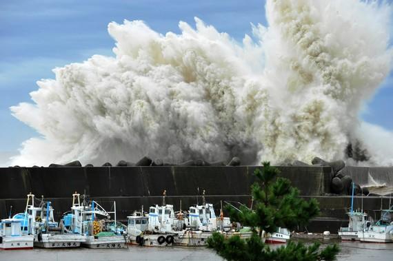 Siêu bão có thể nhấn chìm 1/3 thủ đô Tokyo của Nhật Bản