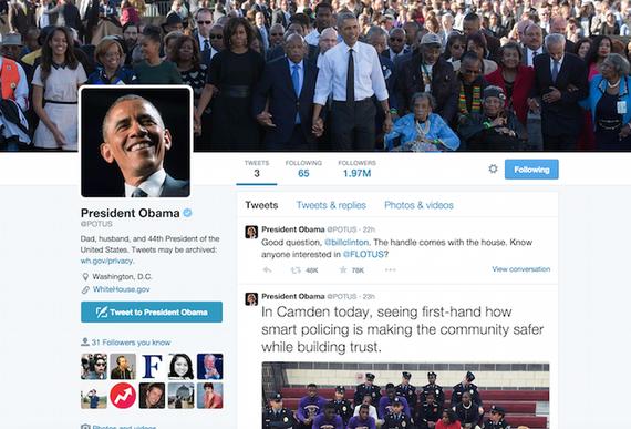 Tài khoản của cựu Tổng thống Obama mất hàng triệu người theo dõi. Ảnh: Twitter