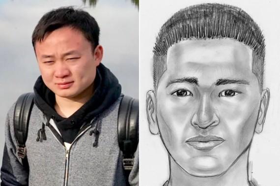 Nạn nhân (trái) và thủ phạm được FBI phát họa chân dung. Ảnh: FBI