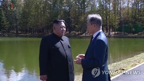Tổng thống Hàn Quốc và nhà lãnh đạo Triều Tiên gặp nhau trong tháng 9 vừa qua. Ảnh: Yonhap