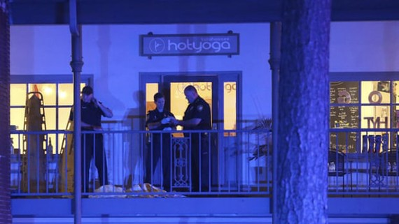 Phòng Yoga nơi xảy ra vụ nổ súng. Ảnh: AP