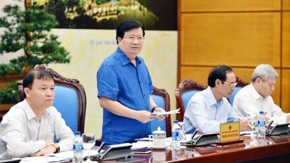 Phó Thủ tướng Trịnh Đình Dũng phát biểu chỉ đạo tại cuộc họp. Ảnh: VGP