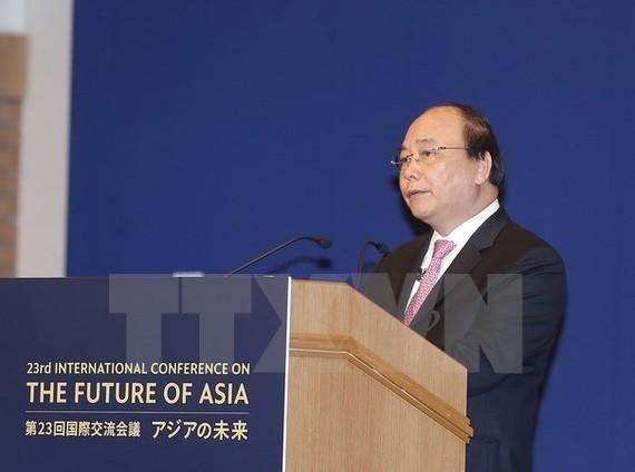 Thủ tướng Nguyễn Xuân Phúc dự và phát biểu tại Lễ khai mạc Hội nghị Tương lai châu Á lần thứ 23.