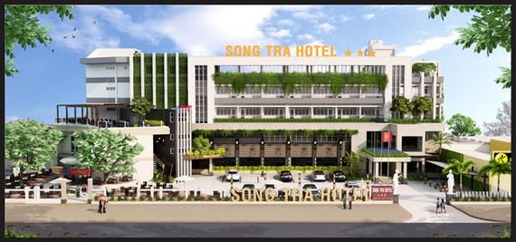 Phối cảnh dự án Khách sạn Sông Trà, sau khi được Tập đoàn Sao Mai cải tạo, nâng cấp.
