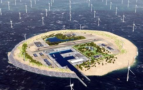 Phối cảnh chung của hòn đảo nhân tạo.