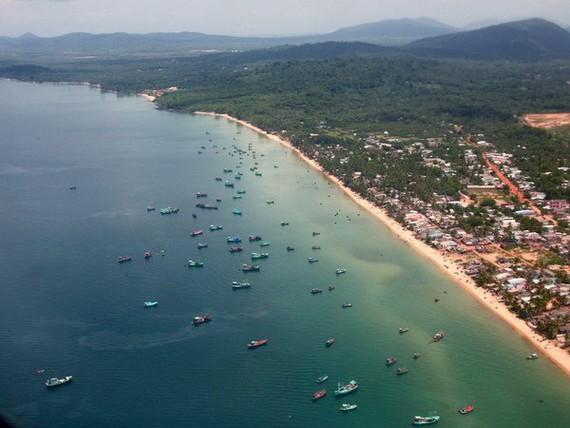 Khu vực ngư trường vùng Đông Bắc đảo Phú Quốc. (Nguồn: Ngọc Hà/TTXVN