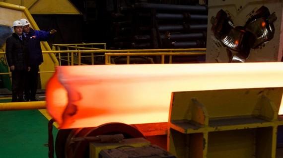 Sản phẩm thép ống. Ảnh minh họa. (Nguồn: AFP/TTXVN)