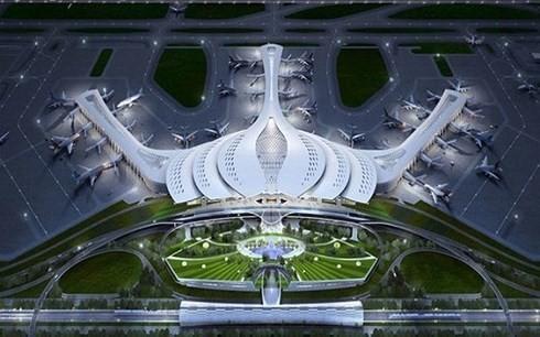 Phương án thiết kế kiến trúc sân bay Long Thành. (Ảnh minh họa: KT)