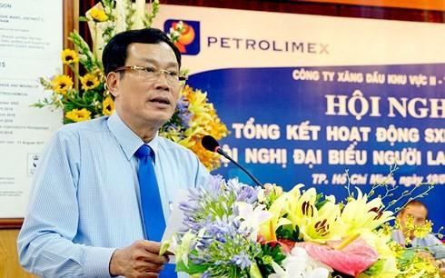 Ông Nguyễn Văn Cảnh, Chủ tịch Petrolimex Sài Gòn chia sẻ nhiều dự tính kinh doanh trong năm 2018. (Ảnh: Petrolimex)