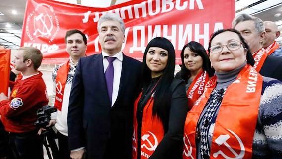 Ứng viên tổng thống Pavel Grudinin của đảng Cộng sản LB Nga