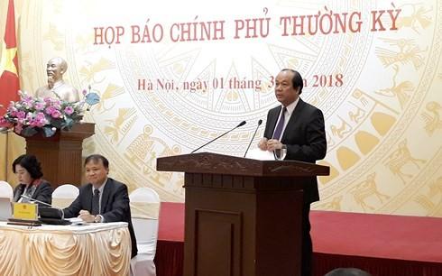 Bộ trưởng Mai Tiến Dũng phát biểu tại cuộc họp báo