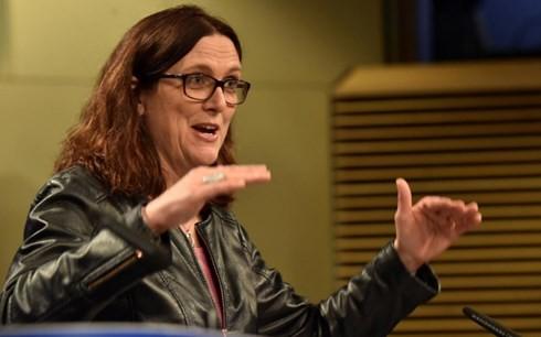 Uỷ viên châu Âu phụ trách thương mại, bà Cecilia Malmstrom. Ảnh: Reuters.