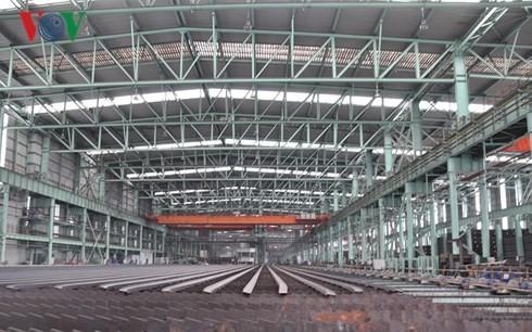 Nhà máy cán thép thuộc tập đoàn thép Kungang của Trung Quốc. Ảnh: Hà Thắng.