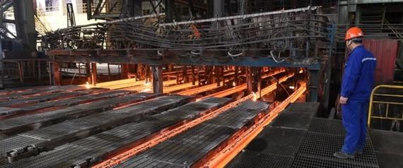 Một cơ sở xản xuất thep ở Trung Quốc. (Nguồn: AP)