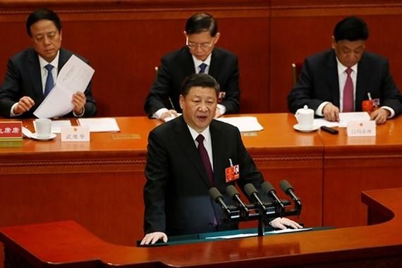 Chủ tịch Trung Quốc Tập Cận Bình phát biểu trước quốc hội ngày 20-3. Ảnh: REUTERS