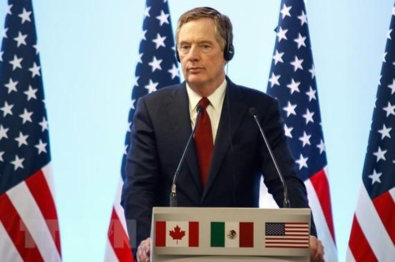 Đại diện Thương mại Mỹ Robert Lighthizer trong cuộc họp báo tại Mexico City, Mexico ngày 5/3. (Nguồn: THX/TTXVN)
