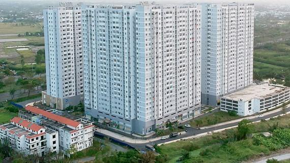 Chung cư HQC Plaza tại huyện Bình Chánh, TPHCM Ảnh: CAO THĂNG