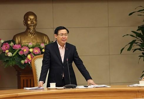 Phó Thủ tướng Vương Đình Huệ chủ trì Hội nghị.