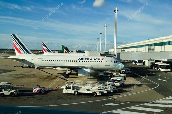 Máy bay của AirFrance đậu tại Sân bay quốc tế Leonardo da Vinci. (Nguồn: Stock Photo)