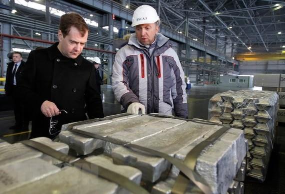 Nhà máy đúc nhôm tại tỉnh Khakassia, Đông Siberia, Nga. (Nguồn: AFP/TTXVN)
