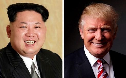 Lãnh đạo Triều Tiên Kim Jong-un (trái) và Tổng thống Mỹ Donald Trump. Ảnh: Reuters.