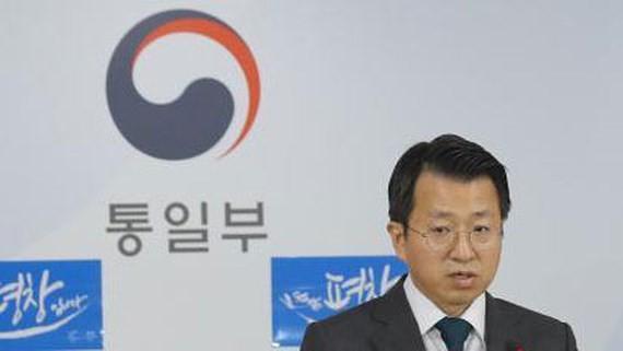 Người phát ngôn của Bộ Thống nhất Hàn Quốc Baik Tae-hyun. Ảnh: YONHAP/TTXVN