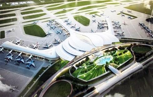 Phối cảnh cảng hàng không quốc tế Long Thành (Ảnh: KT)