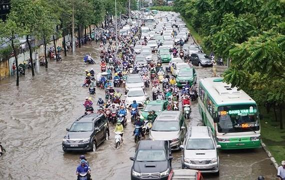 Đường Nguyễn Hữu Cảnh được tính vào tuyến đường tụ nước, không tính ngập
