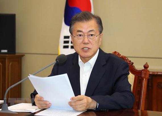 Tổng thống Hàn Quốc Moon Jae-in. (Nguồn: Yonhap/TTXVN)