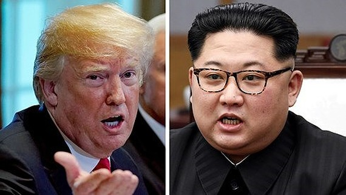 Tổng thống Mỹ Donald Trump (trái) và Nhà lãnh đạo Triều Tiên Kim Jong-un. Ảnh: Quartz.
