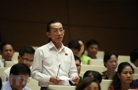 Đại biểu Quốc hội Thành phố Hồ Chí Minh Trần Hoàng Ngân phát biểu. (Ảnh: Dương Giang/TTXVN)