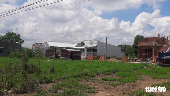 Một khu dân cư tự phát tại phường Long Hòa, quận Bình Thủy, TP Cần Thơ - Ảnh: LÊ DÂN