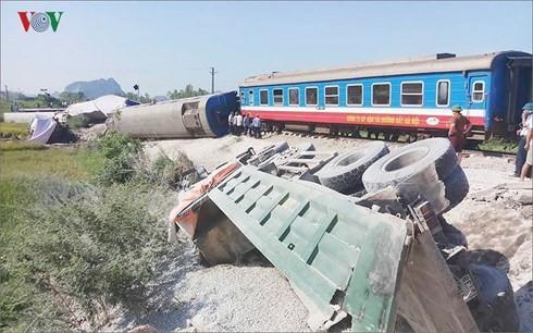 Hiện trường vụ tai nạn giao thông ở Thanh Hóa.