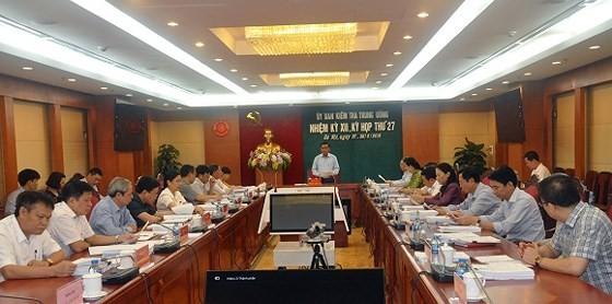 Kỳ họp thứ 27 của UBKTTƯ diễn ra trong 2 ngày 27 và 28-6
