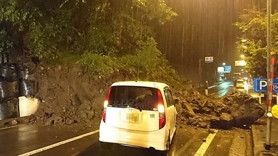 Mưa lớn gây lở đất ở Gifu. Ảnh: Mainichi