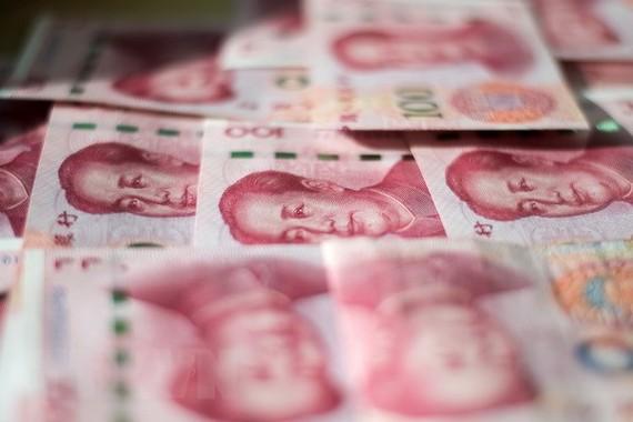 Đồng 100 Nhân dân tệ của Trung Quốc. (Nguồn: AFP/TTXVN)
