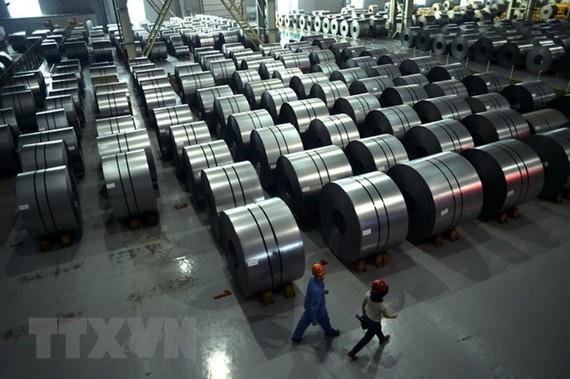 Một nhà máy sản xuất thép của Trung Quốc ở Hàm Đan, tỉnh Hà Bắc, miền Bắc Trung Quốc. (Nguồn: AFP/TTXVN)