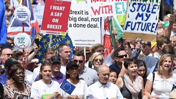 Người dân Anh yêu cầu trưng cầu dân ý lại về Brexit