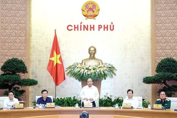 Chính phủ đã họp phiên chuyên đề về công tác xây dựng pháp luật với sự chủ trì của Thủ tướng Nguyễn Xuân Phúc. Ảnh: VGP