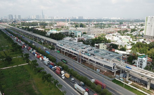 Tuyến metro Bến Thành - Suối Tiên của TP HCM sử dụng nguồn vốn ODA của Nhật Bản Ảnh: HOÀNG TRIỀU