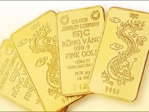 Giá vàng SJC bật tăng mạnh trong phiên giao dịch cuối tuần. (Ảnh minh họa: KT)